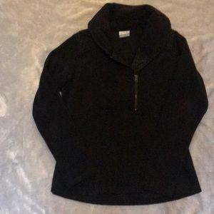 Women's Columbia half zip black with quilted top